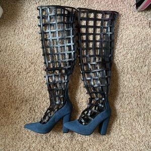 Cape Robbin caged heels